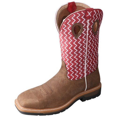 "Men's 12"" Western Work Boot - MLCS001 image 1"
