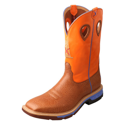 "Men's 12"" Western Work Boot - MXBA003 image 1"