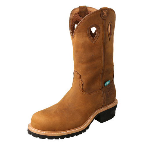 "Men's 12"" Pull On Logger Boot - MLGCW01 image 1"