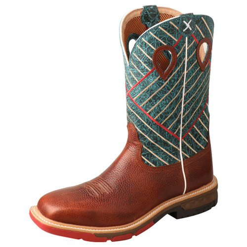 "Men's 12"" Western Work Boot - MXBA004 image 1"