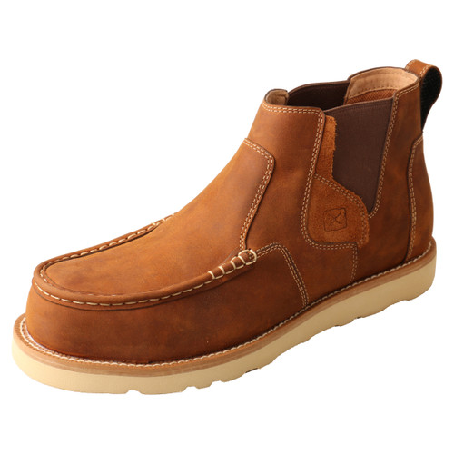 "Men's 4"" Work Chelsea Wedge Sole Boot - MCAN001"