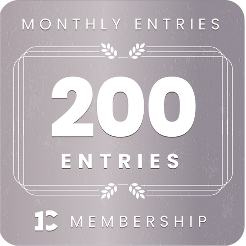 200 monthly entries into every giveaway.  Unlimited 5% discount in the shop.