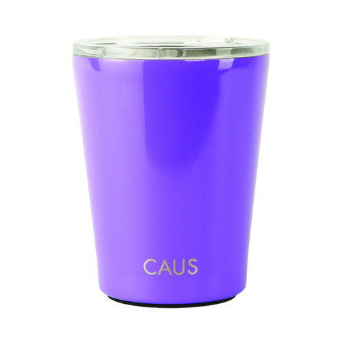 Stainless Steel Coffee Tumbler - Purple on white background