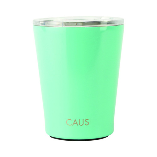 Stainless Steel Coffee Tumbler - Teal on white background