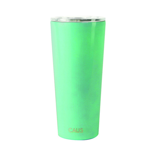 Stainless Steel Large Tumbler - Teal on white background