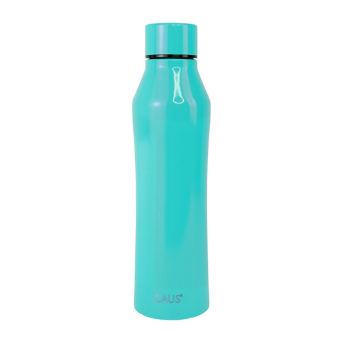 Stainless Steel Bottle - Teal on white background