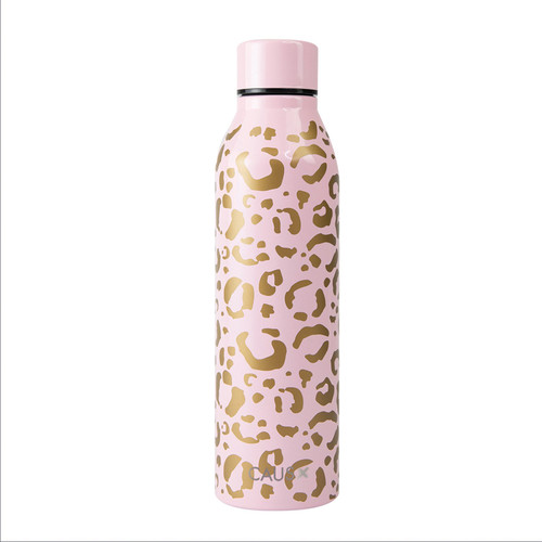 Stainless Steel Bottle - Leopard on white background