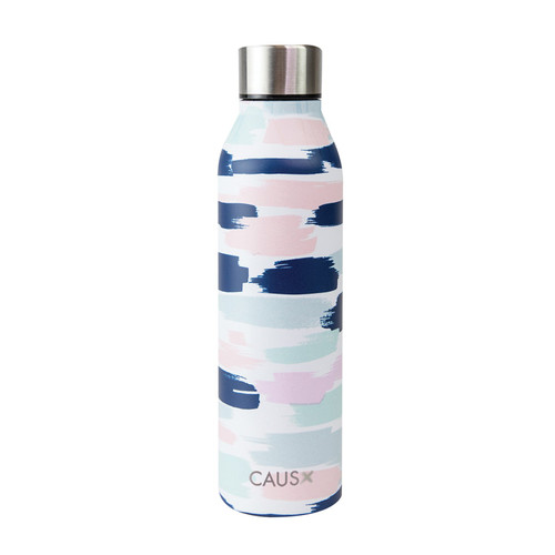 Stainless Steel Bottle - Pretty in Paint on white background
