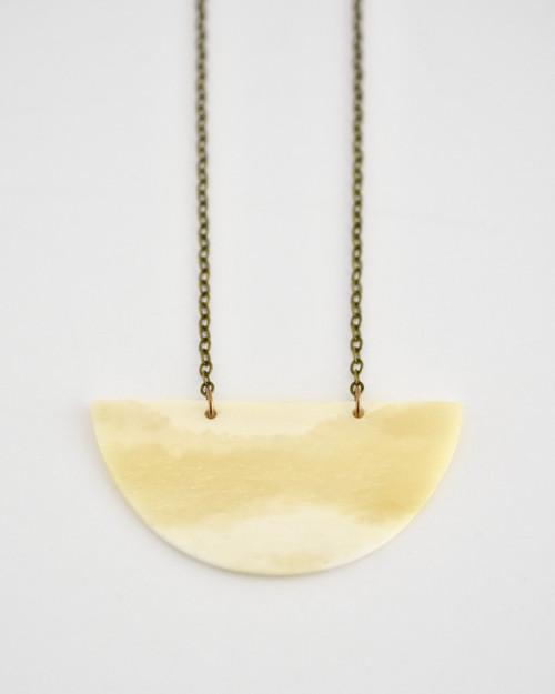 Caroline Necklace - Ivory on white background