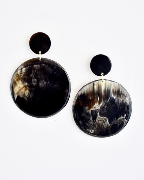 Erica Earrings - Dark Solid on white background