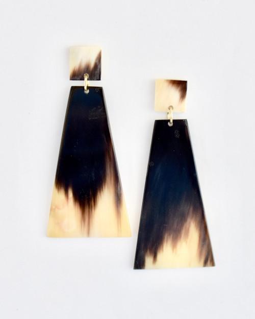 Ersela Earrings - Dark Rectangle on white background