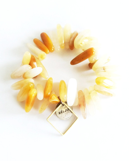 Bloomer Bracelet - Pineapple on white background