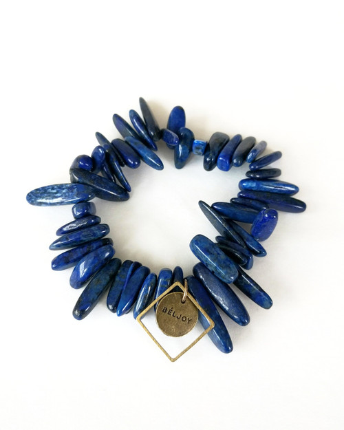 Bloomer Bracelet - Navy on white background
