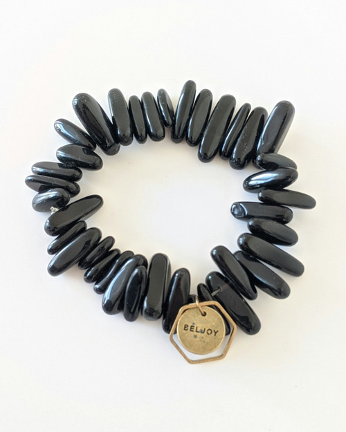 Bloomer Bracelet - Black on white background