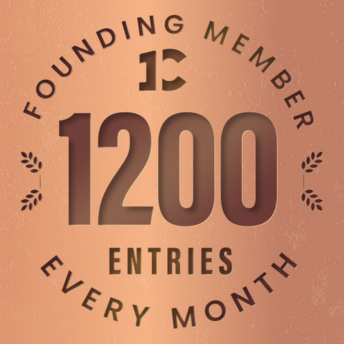 Founding member exclusive: 1200 monthly entries into every giveaway. Unlimited 20% discount in the shop.