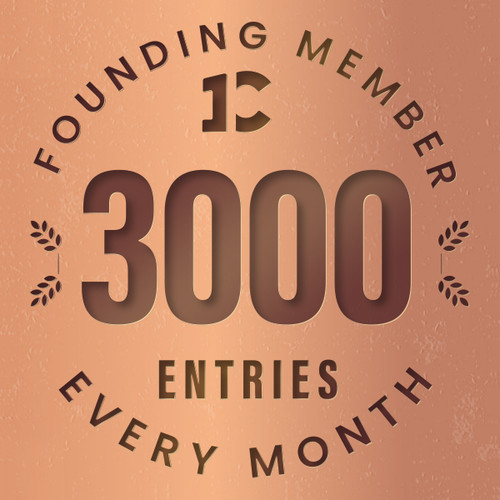 Founding member exclusive: 3000 monthly entries into every giveaway. Unlimited 20% discount in the shop.