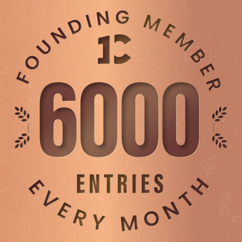 Founding member exclusive: 6000monthly entries into every giveaway. Unlimited 20% discount in the shop.