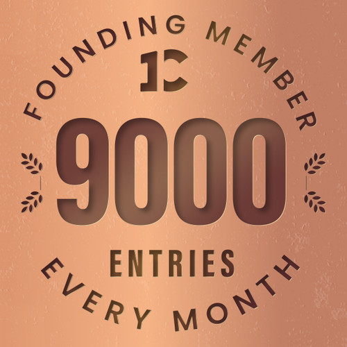 Founding member exclusive: 9000 monthly entries into every giveaway.  Unlimited 20% discount in the shop.