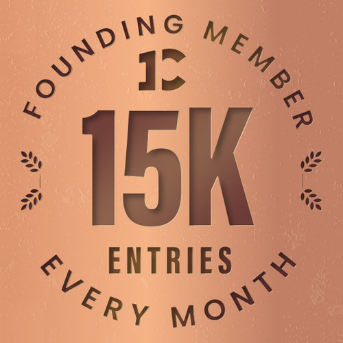 Founding member exclusive: 15000 monthly entries into every giveaway.  Unlimited 20% discount in the shop.