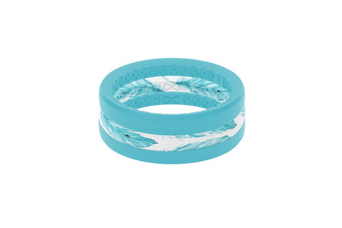 Feather Air Wedding Band Groove Life Silicone Ring 01
