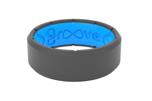 Men's Deep Stone Edge Silicone Ring - Deep Stone