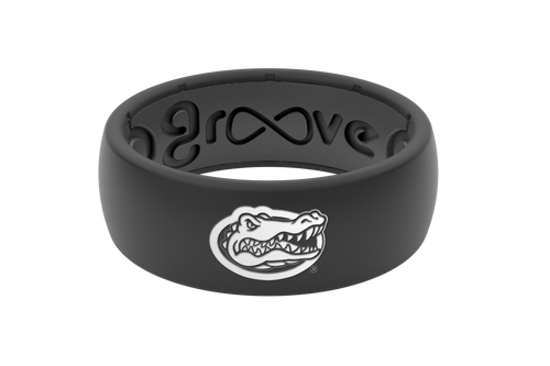 Men's Black Florida Silicone Ring - Black