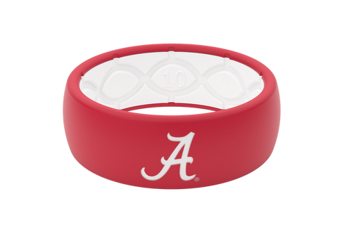 Alabama Crimson Collegiate Silicone Rings