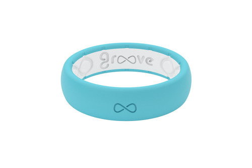 Turquoise Womens Silicone Wedding Bands