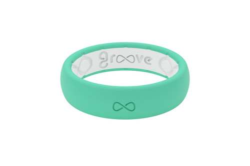 Seafoam Womens Silicone Wedding Bands