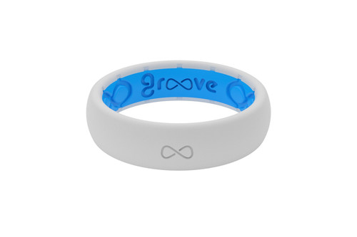 Thin Snow Womens Silicone Rings