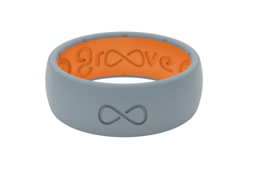 Groove Storm Grey Mens Silicone Rings