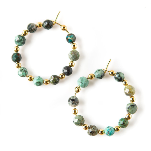Piper Earrings - African Turquoise