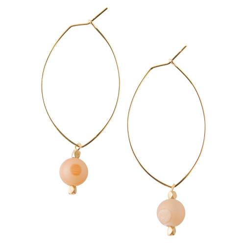 Lenny Gemstone Earrings - Druzy
