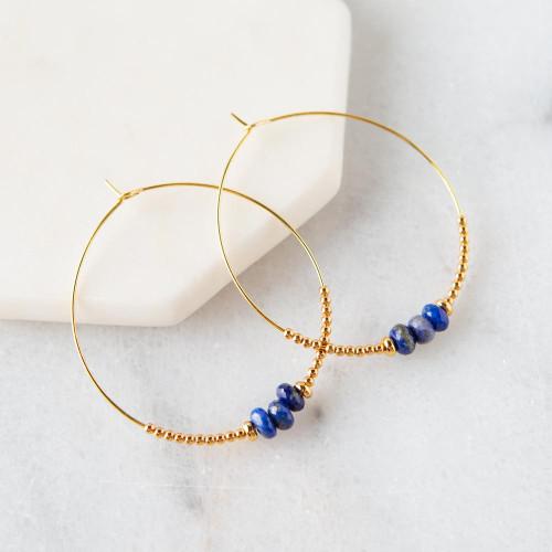 Lily Earrings - Lapis Lazuli