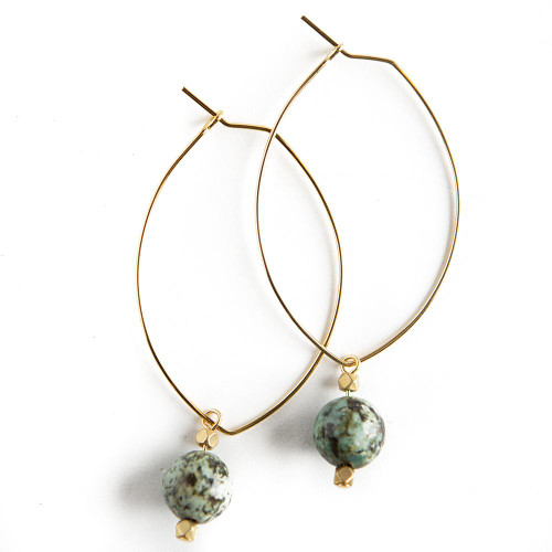 Lenny Gemstone Earrings - African Turquoise