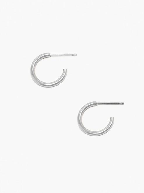 Celine Huggie Hoops - Silver