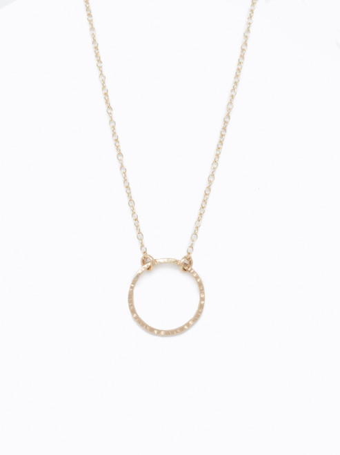 Floating Shapes Necklace - Gold Circle
