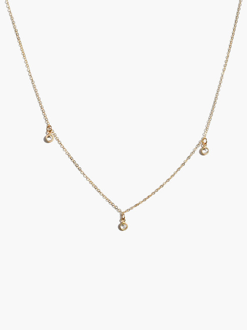 Triple Stella Drop Necklace - Gold