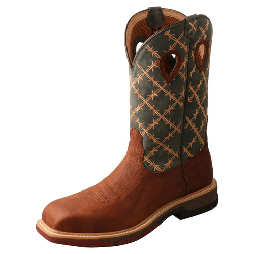 "Men's 12"" Nano Toe Western Work Boot - MXBN002"