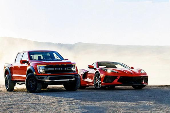 Sweet cars in desert