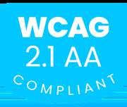 WCAG 2.1 AA Compliance badge