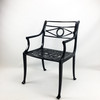Optional filigree seat, chair is not tapered with this option.
