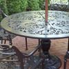 "Filigree Design 49"" Diameter Dining Table with Pedestal Leg"