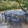 "Filigree Design 35"" x 84""Rectangular Dining Table with 4 Post Legs"
