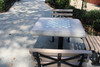 ADA Concrete Chess Table with Square Steel Post Leg - Off set