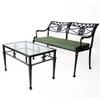 Star and Dolphin Double Settee with Slated Seat