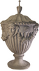 Adams Urn with swags and medallions