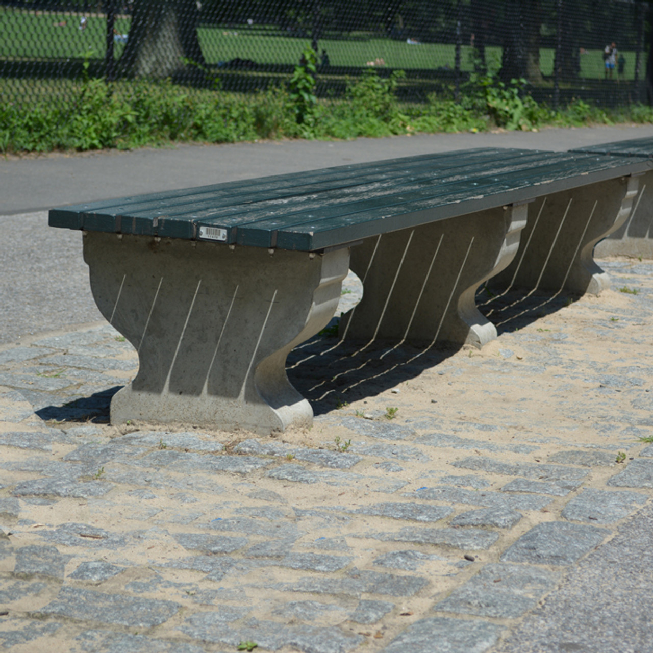 Concrete And Wood Backless Park Bench Kenneth Lynch And Sons