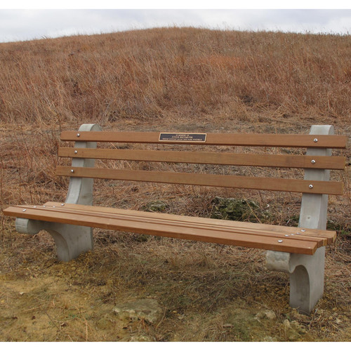 Concrete And Wood Park Bench Kenneth Lynch And Sons