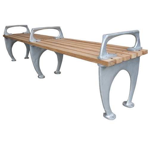 1964 World's Fair Backless Bench with Armrests